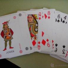 Barajas de cartas: BARAJA DE POKER (NO ESTÁ COMPLETA). Lote 45791137