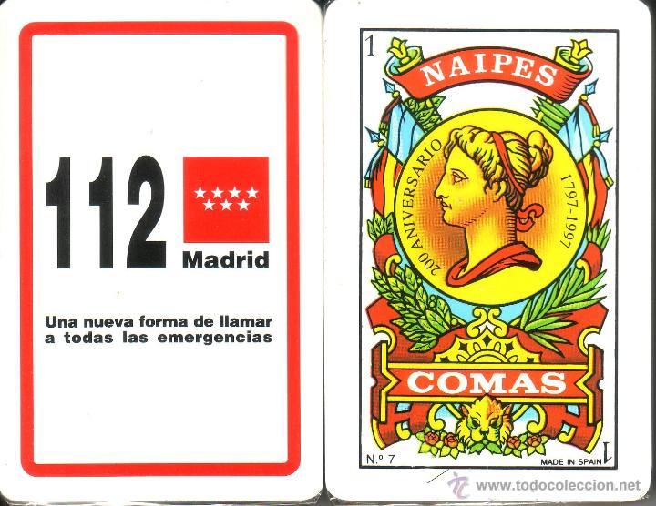112 MADRID - BARAJA ESPAÑOLA DE 40 CARTAS (Juguetes y Juegos - Cartas y Naipes - Otras Barajas)