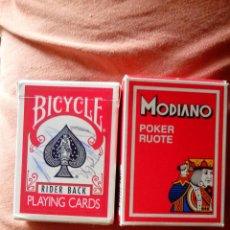 Barajas de cartas: DOS BARAJAS DE POKER. Lote 45997399