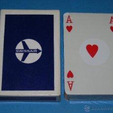 Barajas de cartas: BARAJA DE CARTAS DE POKER. AEROLÍNEAS SWISSAIR. AEROLÍNEAS DE SUIZA. PRECINTADA. Lote 46161098