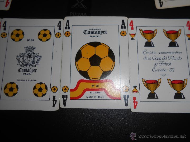 Barajas de cartas: BARAJA FUTBOL HERALDICA CASTANDER. MUNDIAL ESPAÑA 1982 - Foto 2 - 46167085