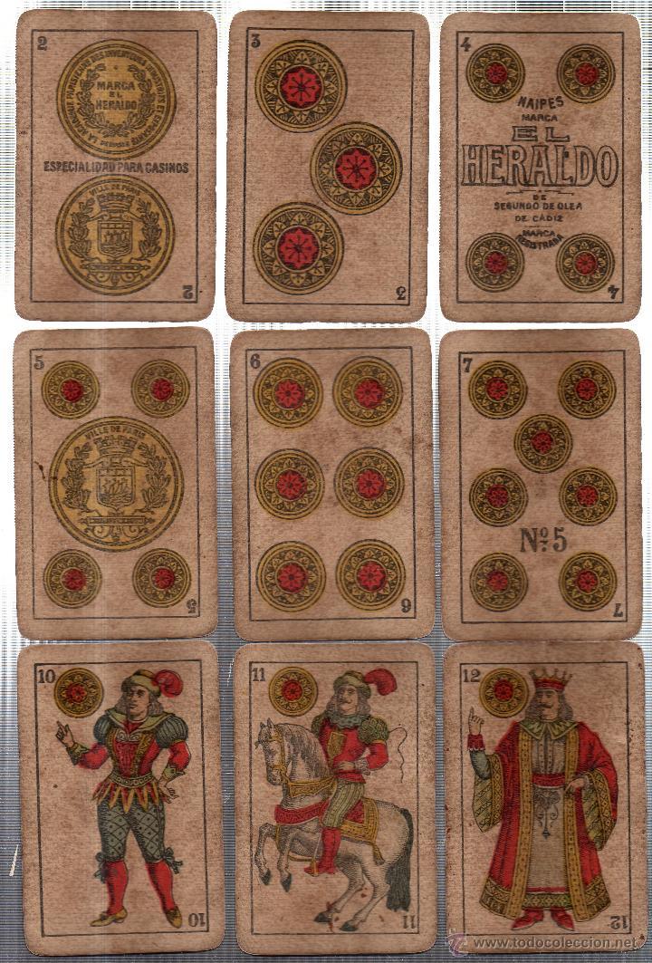 Barajas de cartas: BARAJA DE CARTAS- SEGUNDO OLEA,FABRICA DE NAIPES FINOS,CADIZ,AÑO 1912,USADAS E INCOMPLETA - Foto 3 - 12717498