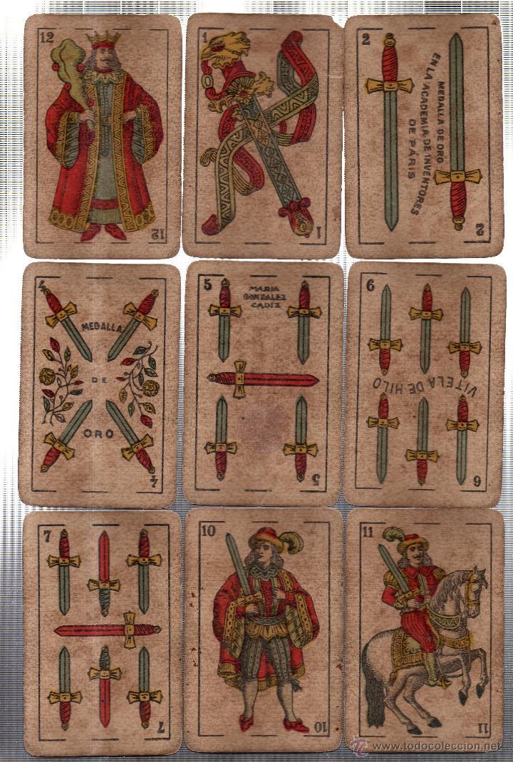 Barajas de cartas: BARAJA DE CARTAS- SEGUNDO OLEA,FABRICA DE NAIPES FINOS,CADIZ,AÑO 1912,USADAS E INCOMPLETA - Foto 4 - 12717498