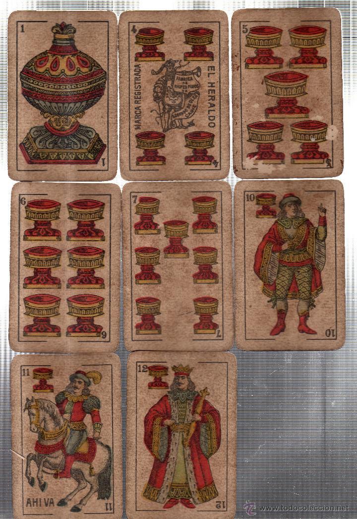 Barajas de cartas: BARAJA DE CARTAS- SEGUNDO OLEA,FABRICA DE NAIPES FINOS,CADIZ,AÑO 1912,USADAS E INCOMPLETA - Foto 6 - 12717498