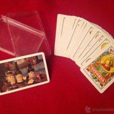 Barajas de cartas: NAIPE ESPAÑOL FOURNIER DE 40 CARTAS, PUBLICIDAD DE PANDO, DRY SACK, ..., EN SU CAJA ORIGINAL.. Lote 46483658