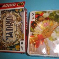 Barajas de cartas: BARAJA POKER ESPAÑOL - MADRID - VARITEMAS. Lote 50393226