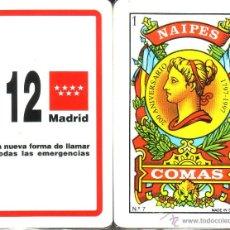 Barajas de cartas: 112 MADRID - BARAJA ESPAÑOLA DE 40 CARTAS. Lote 46578565