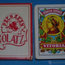 Barajas de cartas: BARAJA DE CARTAS ESPAÑOLA. FOURNIER. PACHARAN OLATZ BEBIDAS. Lote 46727285