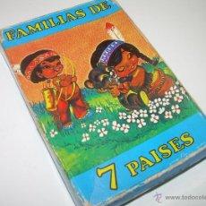 Barajas de cartas: JUEGO DE CARTAS DE FAMILIAS DE SIETE PAISES.......FOURNIER.. Lote 47025320