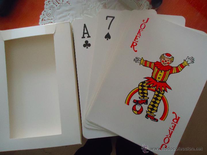 Barajas de cartas: baraja de poker gigante, medidas 30 x 21 cm. - Foto 2 - 47044173