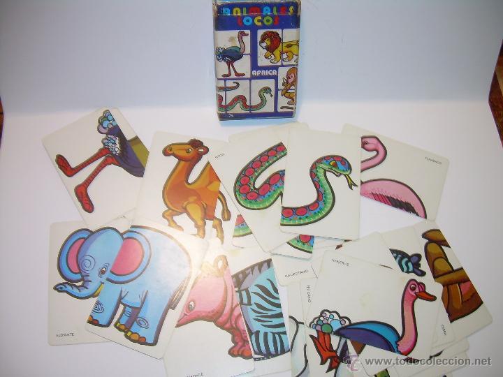 ANTIGUA BARAJA DE CARTAS...ANIMALES LOCOS...32 CARTAS ...FOURNIER. (Juguetes y Juegos - Cartas y Naipes - Barajas Infantiles)