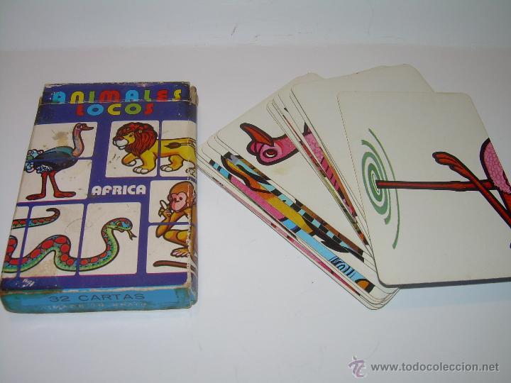 Barajas de cartas: ANTIGUA BARAJA DE CARTAS...ANIMALES LOCOS...32 CARTAS ...FOURNIER. - Foto 3 - 47054651