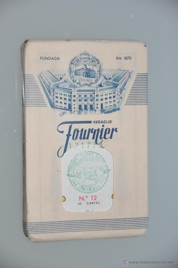 BARAJA DE CARTAS DE FOURNIER N. 12 PRECINTADA DE 1960 APROXIMADAMENTE CON NUMERACION 171779 (Juguetes y Juegos - Cartas y Naipes - Baraja Española)