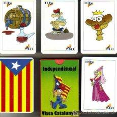 Barajas de cartas: BARAJA ESPAÑOLA CARTAS CATALANAS - ESTELADA. Lote 47211473