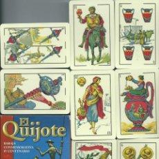 Barajas de cartas: BARAJA ESPAÑOLA EL QUIJOTE IV CENTENARIO-AÑO 2005-FOURNIER. Lote 211830728