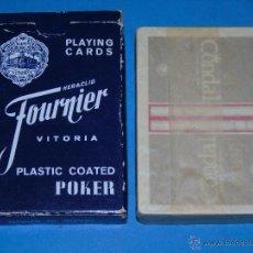 Barajas de cartas: BARAJA DE CARTAS PÓKER. FOURNIER. TABACOS CONDAL CIGARROS. AÑOS 60 70. PRECINTADA. Lote 47258401