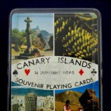 Barajas de cartas: BARAJA FOURNIER. TURISMO ISLAS CANARIAS. 54 CARTAS. COMPLETA. SIN USAR. TIMBRE EN EL 4 DE TREBOL.. Lote 47307943
