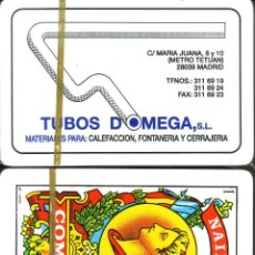 Barajas de cartas: TUBOS DOMEGA- BARAJA ESPAÑOLA 40 CARTAS. Lote 47328075
