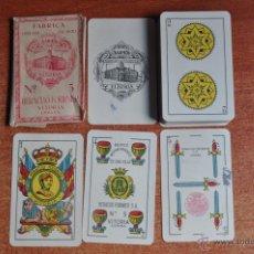 Barajas de cartas: ANTIGUA Y ORIGINAL BARAJA DE CARTAS DE HERACLIO FOURNIER N. 5 NUMERACION 70783 , FALTA UNA CARTA. Lote 47467455