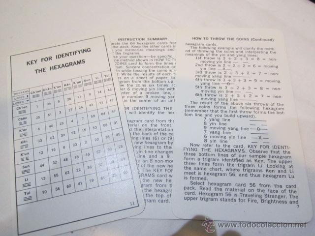 Barajas de cartas: Baraja de cartas I Ching. Oráculo chino. Textos en inglés. - Foto 4 - 103278464