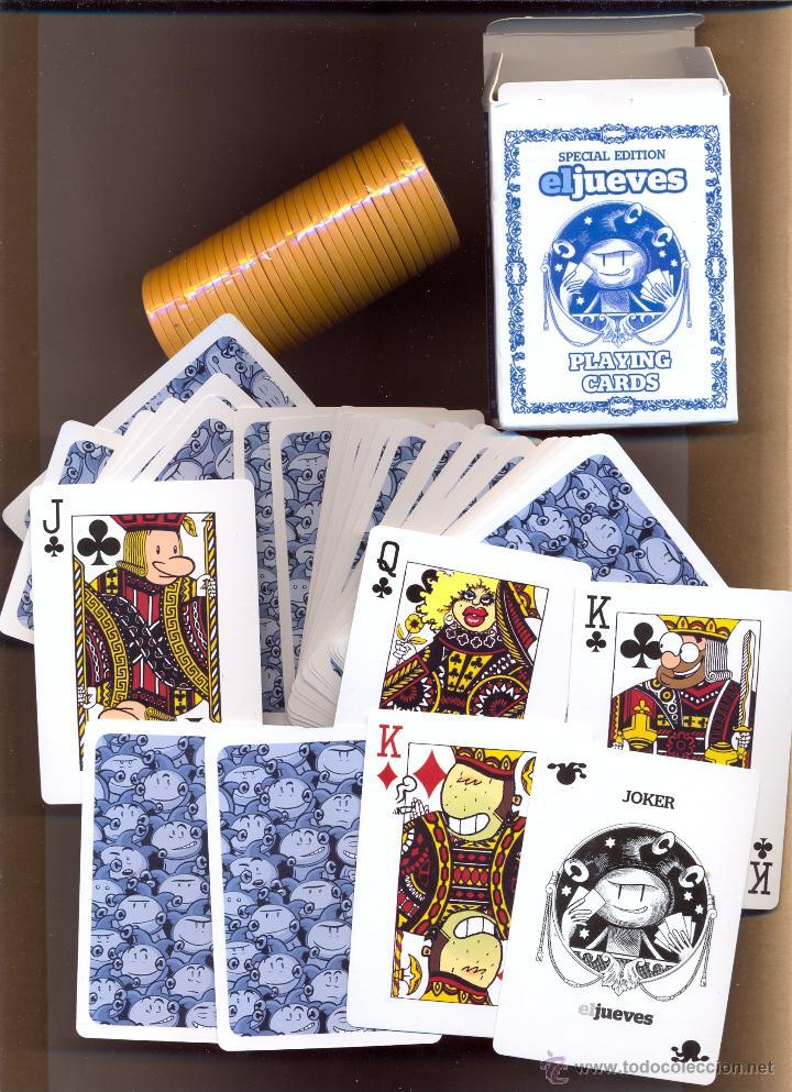 Barajas de cartas: JUE 1 - BARAJA ORIGINAL DE EL JUEVES POQUER EL JUEVES EDICIÓN ESPECIAL CON FICHAS DE TANTEOS Y A - Foto 2 - 47666822