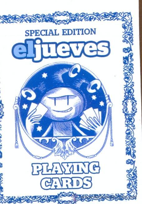 Barajas de cartas: JUE 1 - BARAJA ORIGINAL DE EL JUEVES POQUER EL JUEVES EDICIÓN ESPECIAL CON FICHAS DE TANTEOS Y A - Foto 3 - 47666822