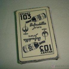Barajas de cartas: BARAJA CARTAS, HERACLIO FOURNIER - BRANDY 103 BOBADILLA JEREZ. 40 NAIPES.. Lote 47788319