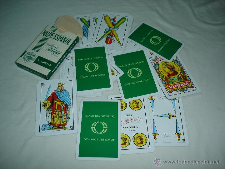 Barajas de cartas: BARAJA CARTAS, HERACLIO FOURNIER - BANCO DEL COMERCIO. 40 NAIPES. - Foto 3 - 47822996