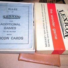 Barajas de cartas: JUEGO DE CARTAS BARAJA ANTIGUA LEXICON CON LIBRO INSTRUCCIONES MUY RARO. Lote 47880500