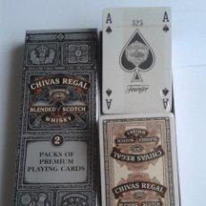 Barajas de cartas: BARAJA DE CARTAS HERACLIO FOURNIER PUBLICIDAD CHIVAS REGAL SCHOTCH WHISKY PACK 2 PLAYING CARDS. Lote 47898633