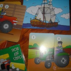 Barajas de cartas: BARAJA EDUCATIVA - DOS EN UNO - PARA UNIR DOS PARTES DEL MISMO DIBUJO - APRENDER JUGANDO. Lote 47907770