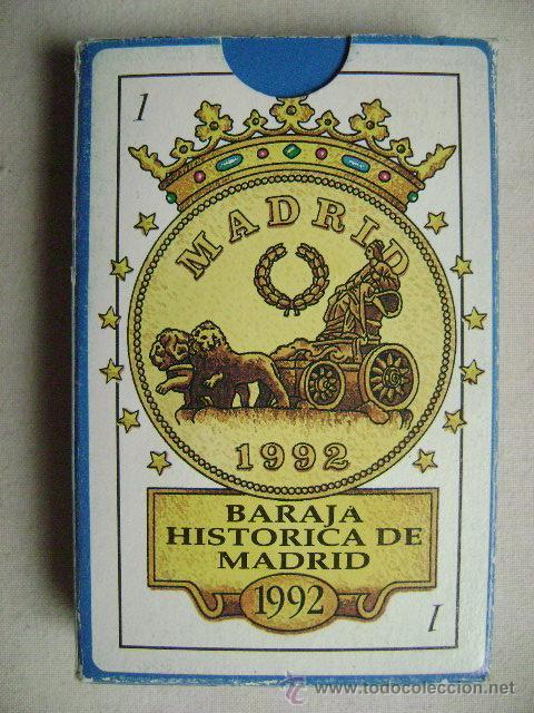 BARAJA HISTORICA DE MADRID.N-110J (Juguetes y Juegos - Cartas y Naipes - Otras Barajas)