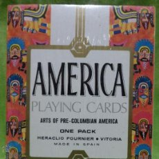 Barajas de cartas: BARAJA AMERICA ARTS OF PRE - COLUMBIAN DE HERACLIO FOURNIER - PRECINTADA -. Lote 48307868