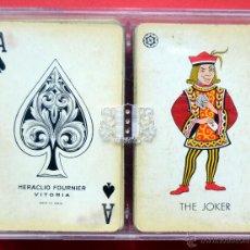 Barajas de cartas: LOTE DE 2 BARAJAS DE POKER HERACLIO FOURNIER ( AL DORSO ESCUDO DE LOGROÑO). Lote 48339384