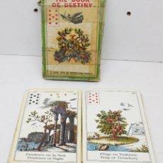 Barajas de cartas: BARAJA TAROT LE LIVRE DU DESTIN / THE BOOK OF DESTINY GRIMAUD 1970. Lote 182905997
