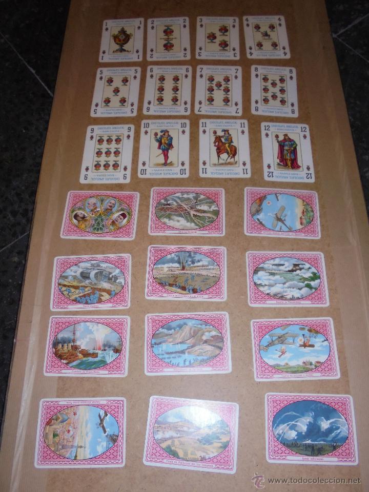 Barajas de cartas: ANTIGUA BARAJA 1ª GUERRA MUNDIAL 48 CARTAS CHOCOLATE ANGELICAL BARCELONA - SIMEON DURÁ VALENCIA - Foto 2 - 48436756