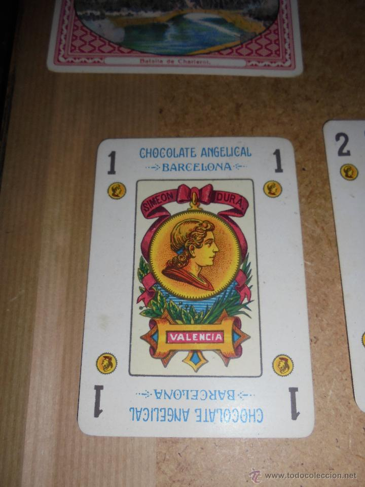 Barajas de cartas: ANTIGUA BARAJA 1ª GUERRA MUNDIAL 48 CARTAS CHOCOLATE ANGELICAL BARCELONA - SIMEON DURÁ VALENCIA - Foto 5 - 48436756