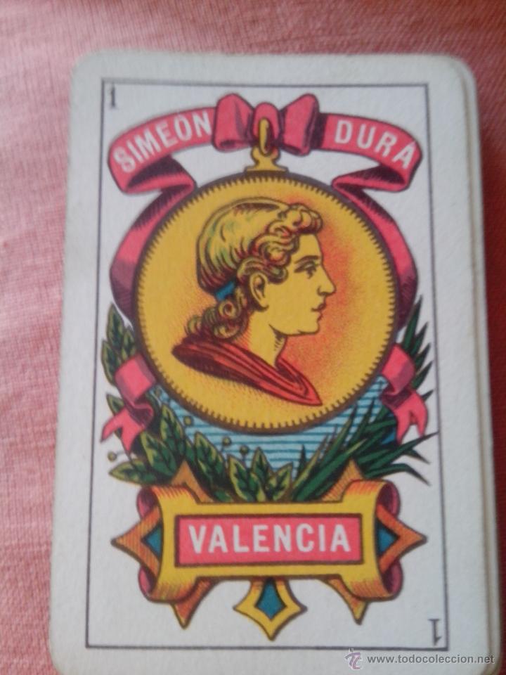 BARAJA DE CARTAS SIMEÓN DURÁ (VALENCIA) (Juguetes y Juegos - Cartas y Naipes - Baraja Española)