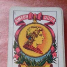 Barajas de cartas: BARAJA DE CARTAS SIMEÓN DURÁ (VALENCIA). Lote 48636540