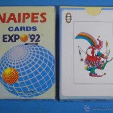 Barajas de cartas: BARAJA DE CARTAS ESPAÑOLA. EXPO 92 1992 SEVILLA. CARDS. CURIOSOS NAIPES. Lote 50607199