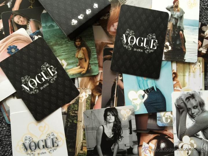 Barajas de cartas: Rara baraja de VOGUE con motivo de su 20 cumpleaños. Moda, fotografía, estilismo,modelos..famosas - Foto 2 - 48706743