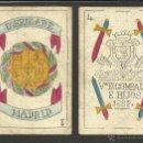 Barajas de cartas: BARAJA CARTAS FABRICA DE MADRID-VDA . DE GOMBAU E HIJOS 1882-COMPLETA 40 CARTAS-VER FOTOS-(CR-817). Lote 48775610