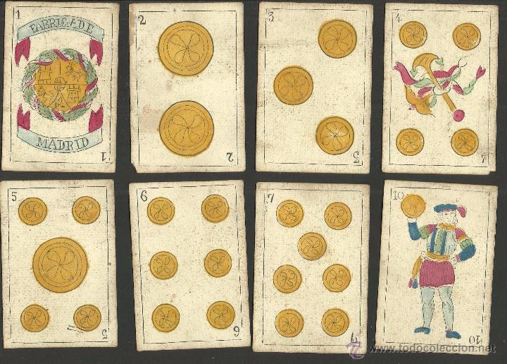 Barajas de cartas: BARAJA CARTAS FABRICA DE MADRID-VDA . DE GOMBAU E HIJOS 1882-COMPLETA 40 CARTAS-VER FOTOS-(CR-817) - Foto 2 - 48775610
