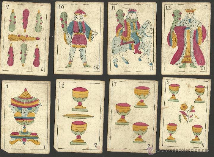 Barajas de cartas: BARAJA CARTAS FABRICA DE MADRID-VDA . DE GOMBAU E HIJOS 1882-COMPLETA 40 CARTAS-VER FOTOS-(CR-817) - Foto 6 - 48775610