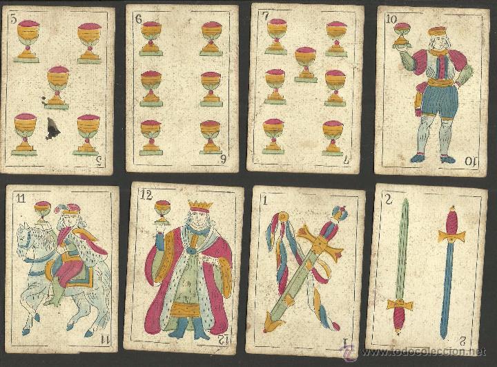 Barajas de cartas: BARAJA CARTAS FABRICA DE MADRID-VDA . DE GOMBAU E HIJOS 1882-COMPLETA 40 CARTAS-VER FOTOS-(CR-817) - Foto 8 - 48775610