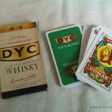 Barajas de cartas: BARAJA DE CARTAS WHISKY DYC. NAIPES COMAS.. Lote 48868855