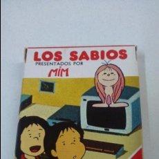 Barajas de cartas: BARAJA INFANTIL LOS SABIOS. HERACLIO FOURNIER ( VITORIA). Lote 48954494