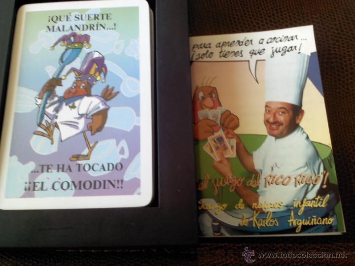 Barajas de cartas: BARAJA DEL JUEGO DEL RICO RICO DE KARLOS ARGUIÑANO, COMO NUEVA, DE FOURNIER - Foto 2 - 48965212