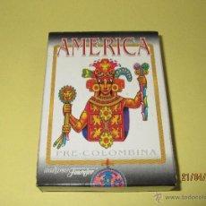 Jeux de cartes: BARAJA DE POKER AMERICA PRE-COLOMBINA DE NAIPES HERACLIO FOURNIER SIN PRECINTO PERO NUEVA A ESTRENAR. Lote 49000484