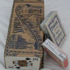 Barajas de cartas: LOTE 10 BARAJAS POKER INGLES AÑOS 40-50 FABRICA NAIPES BURGOS HIJA B. FOURNIER *NUMISBUR*. Lote 49164189